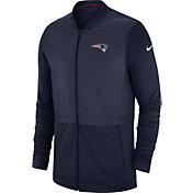 Nike Men's New England Patriots Sideline Hybrid Full-Zip Navy Jacket