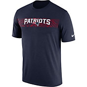 Nike Men's New England Patriots Sideline Seismic Legend Performance Navy T-Shirt