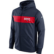 Nike Men's New England Patriots Sideline Therma-FIT Navy Full-Zip Hoodie