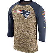 Nike Men's New England Patriots Salute to Service 2017 Camouflage Raglan