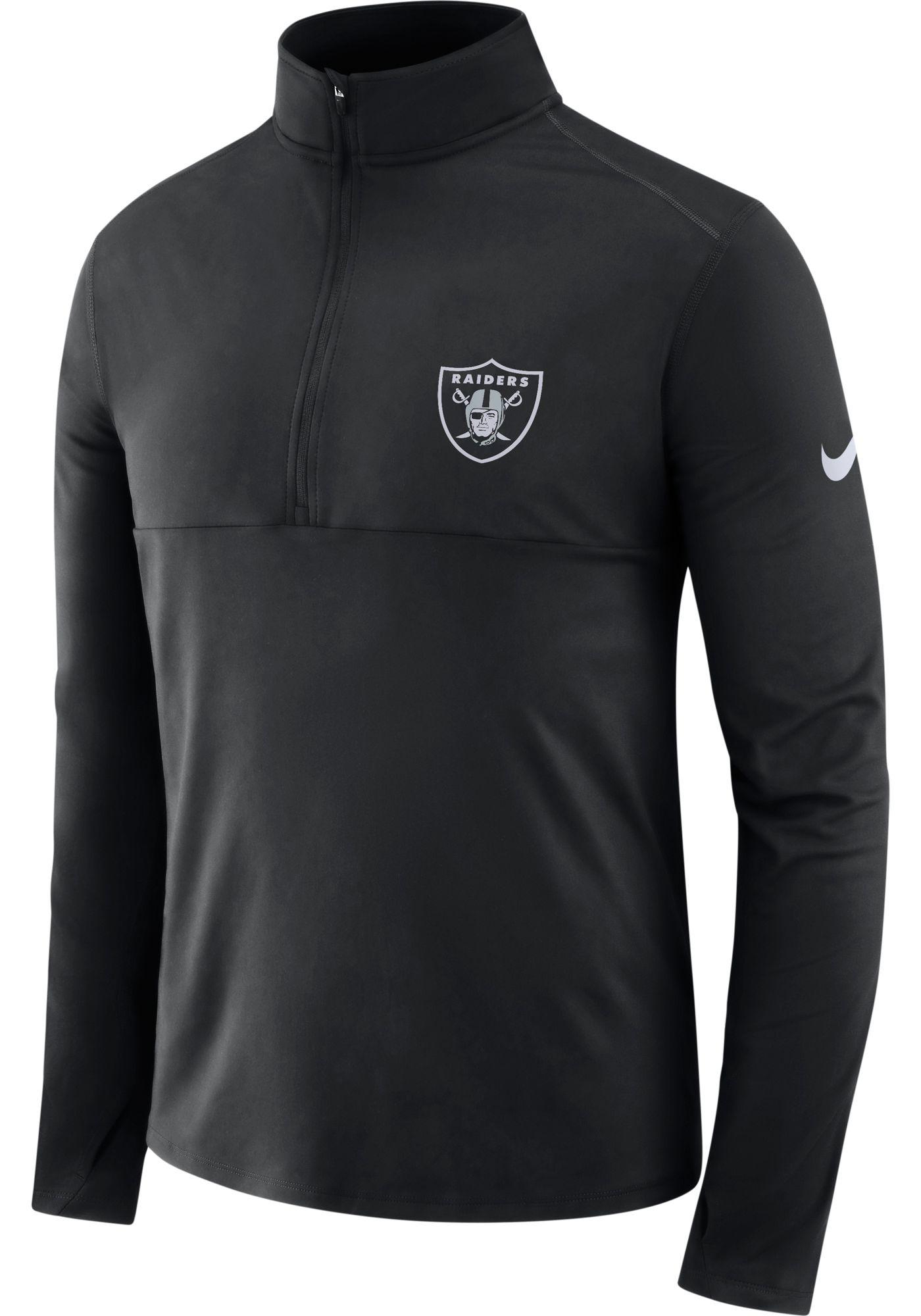 Nike Men's Oakland Raiders Core Performance Black Half-Zip Pullover Top