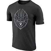 Nike Men's Oakland Raiders Diffraction Icon Performance Black T-Shirt