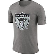 Nike Men's Oakland Raiders Historic Crackle Tri-Blend Grey T-Shirt
