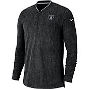 Nike Men's Oakland Raiders Sideline Coaches Half-Zip Black Pullover