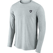 Nike Men's Oakland Raiders Sideline Coaches Performance Silver Long Sleeve Shirt