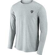 Nike Men's Oakland Raiders Sideline Coaches Performance Silver Long Sleeve Shirt