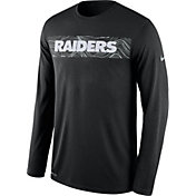 Nike Men's Oakland Raiders Sideline Seismic Legend Performance Black Long Sleeve Shirt