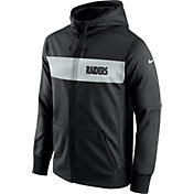 Nike Men's Oakland Raiders Sideline Therma-FIT Black Full-Zip Hoodie