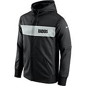 Nike Men's Oakland Raiders Sideline Therma-FIT Black Full-Zip Hoodie