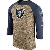 Nike Men's Oakland Raiders Salute to Service 2017 Camouflage Raglan