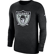 Nike Men's Oakland Raiders Tri-Blend Historic Crackle Black Long Sleeve Shirt