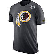 Nike Men's Washington Redskins Crucial Catch Logo Anthracite T-Shirt