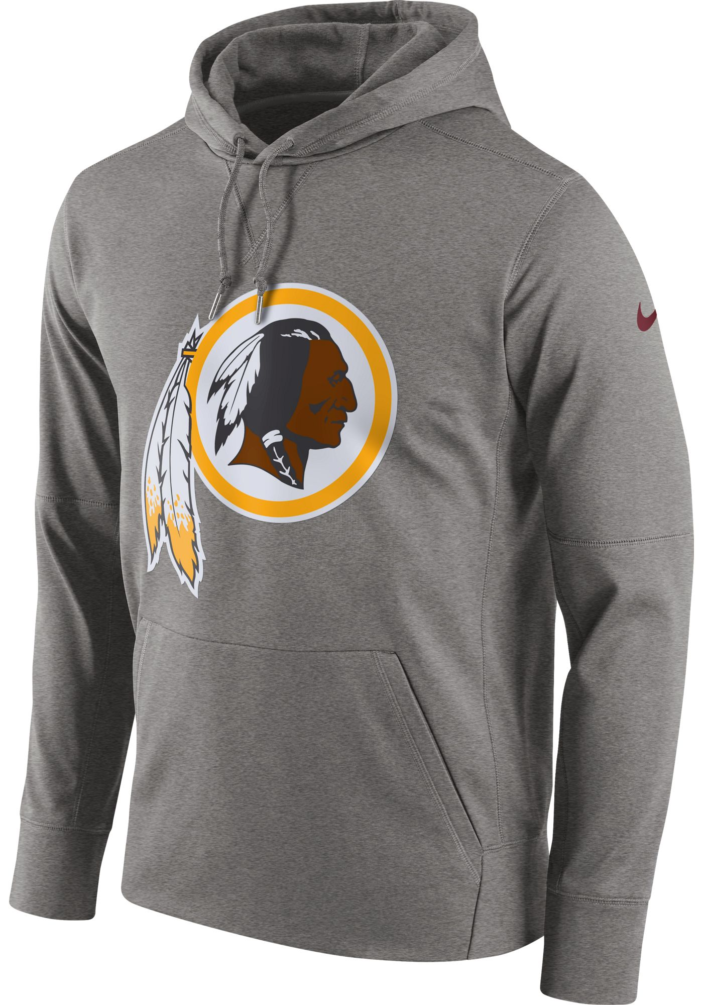 Nike Men's Washington Redskins Performance Circuit Logo Essential Grey Hoodie