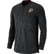 Nike Men's Washington Redskins Sideline Coaches Half-Zip Black Pullover