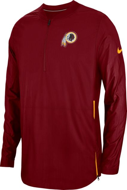 Nike Men s Washington Redskins Sideline Lockdown Half-Zip Red Jacket ... 3d376ed23