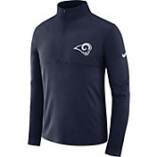Nike Men's Los Angeles Rams Core Performance Navy Half-Zip Pullover Top