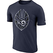 Nike Men's Los Angeles Rams Diffraction Icon Performance Navy T-Shirt