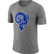 Nike Men's Los Angeles Rams Historic Crackle Tri-Blend Grey T-Shirt