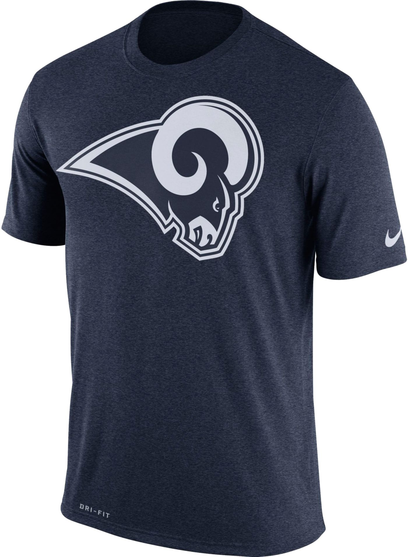 Nike Men's Los Angeles Rams Legend Logo Performance Navy T-Shirt