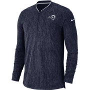 Nike Men's Los Angeles Rams Sideline Coaches Half-Zip Navy Pullover