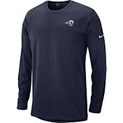 Nike Men's Los Angeles Rams Sideline Modern Navy Long Sleeve Top