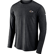 Nike Men's Baltimore Ravens Sideline Coaches Performance Black Long Sleeve Shirt