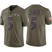 Nike Men's Home Limited Salute to Service Baltimore Ravens Joe Flacco #5 Jersey