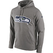 Nike Men's Seattle Seahawks Essential Logo Grey Hoodie