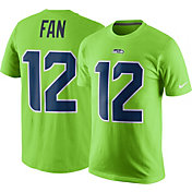 Nike Men's Seattle Seahawks Fan #12 Color Rush Green T-Shirt