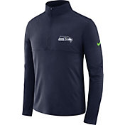 Nike Men's Seattle Seahawks Core Performance Navy Half-Zip Pullover Top