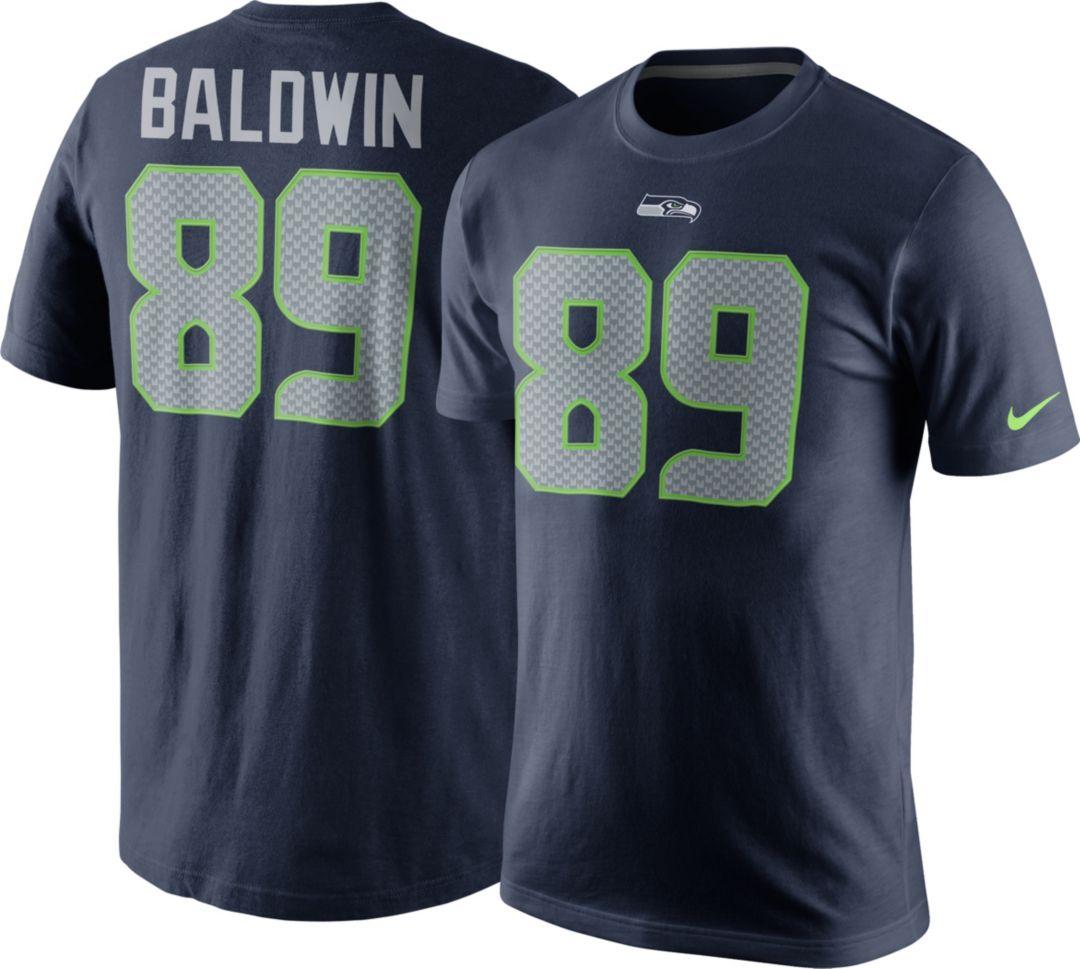 f7d5ef99ee8 Nike Men's Seattle Seahawks Doug Baldwin #89 Pride Navy T-Shirt ...