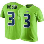 0baec140 Product Image · Nike Men's Seattle Seahawks Russell Wilson #3 Color Rush  2017 Pride Green T-Shirt