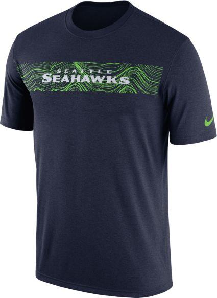 401e454de121 Nike Men s Seattle Seahawks Sideline Seismic Legend Performance Navy T-Shirt.  noImageFound