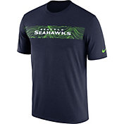 Nike Men's Seattle Seahawks Sideline Seismic Legend Performance Navy T-Shirt