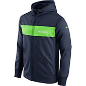 Nike Men's Seattle Seahawks Sideline Therma-FIT Navy Full-Zip Hoodie