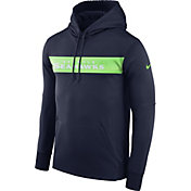 Nike Men's Seattle Seahawks Sideline Therma-FIT Navy Pullover Hoodie