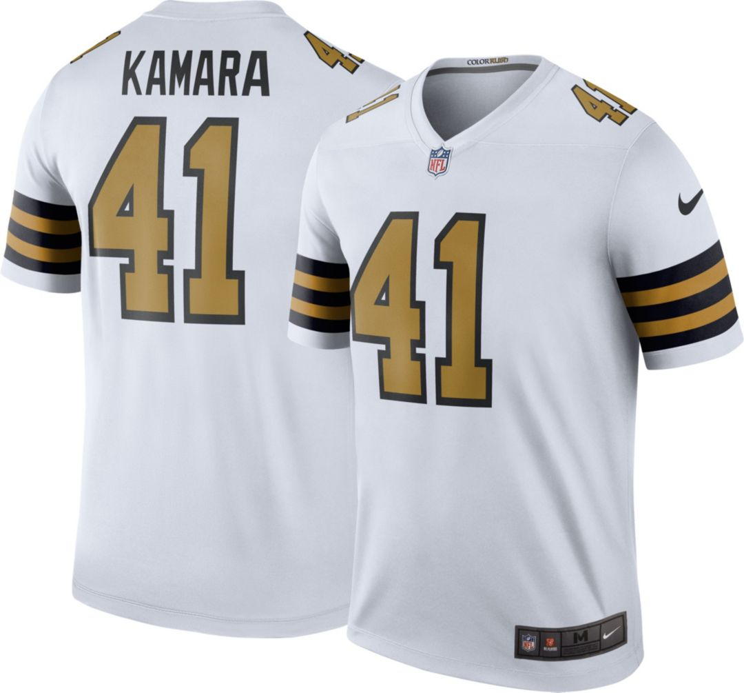 official photos 8df53 ba8c2 Nike Men's Color Rush Legend Jersey New Orleans Saints Alvin Kamara #41