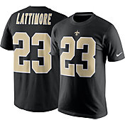 Nike Men's New Orleans Saints Marshon Lattimore #23 Pride Black T-Shirt