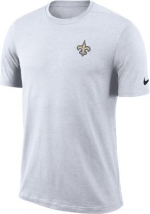 Nike Men  39 s New Orleans Saints Sideline Coaches Performance White T-Shirt 8374d555f