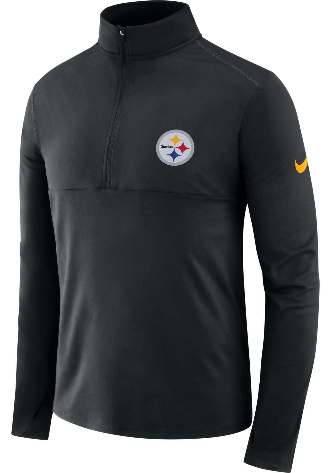 Nike Men's Pittsburgh Steelers Core Performance Black Half-Zip Pullover Top