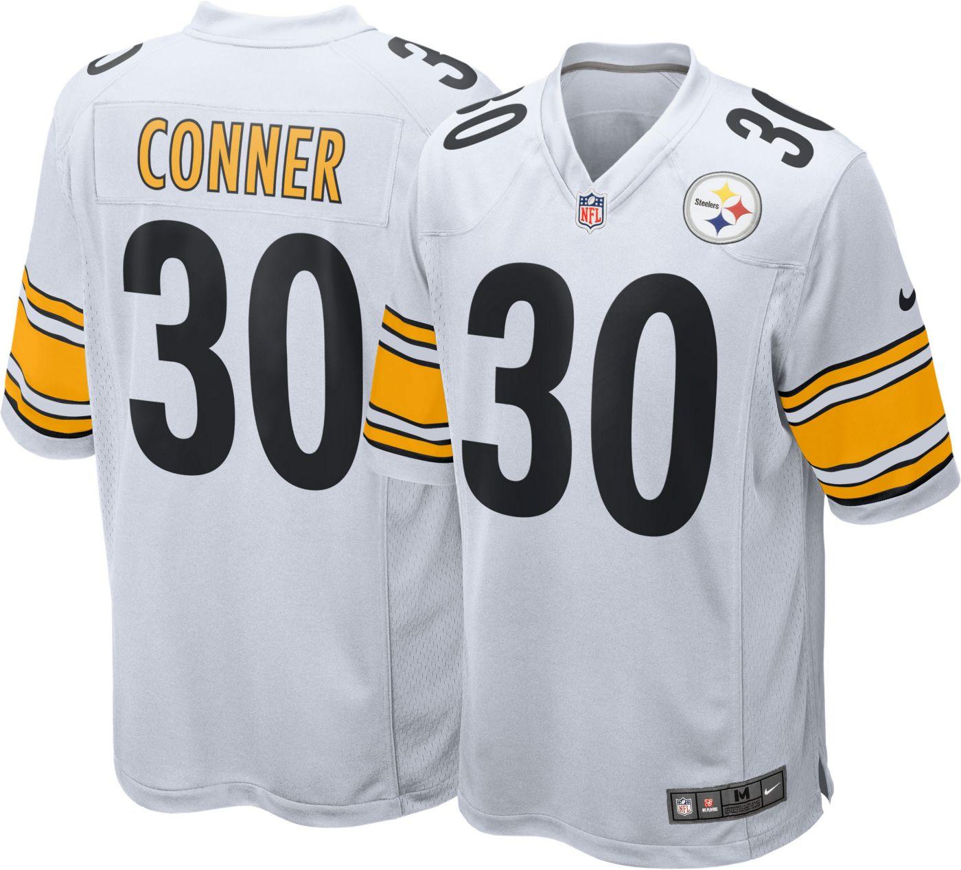 Nike Men's Away Game Jersey Pittsburgh Steelers James Conner #30