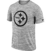 Nike Men's Pittsburgh Steelers Legend Velocity Travel Performance Grey T-Shirt