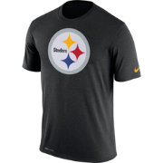 Nike Men's Pittsburgh Steelers Legend Logo Performance Black T-Shirt