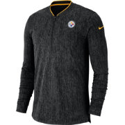 Nike Men's Pittsburgh Steelers Sideline Coaches Half-Zip Black Pullover