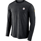 Nike Men's Pittsburgh Steelers Sideline Coaches Performance Black Long Sleeve Shirt