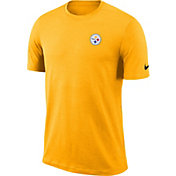 Nike Men's Pittsburgh Steelers Sideline Coaches Performance Gold T-Shirt