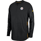 Nike Men's Pittsburgh Steelers Sideline Lockdown Half-Zip Black Jacket