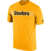 Nike Men's Pittsburgh Steelers Sideline Seismic Legend Performance Gold T-Shirt