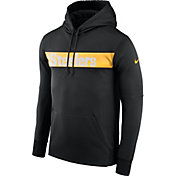 Nike Men's Pittsburgh Steelers Sideline Therma-FIT Black Pullover Hoodie