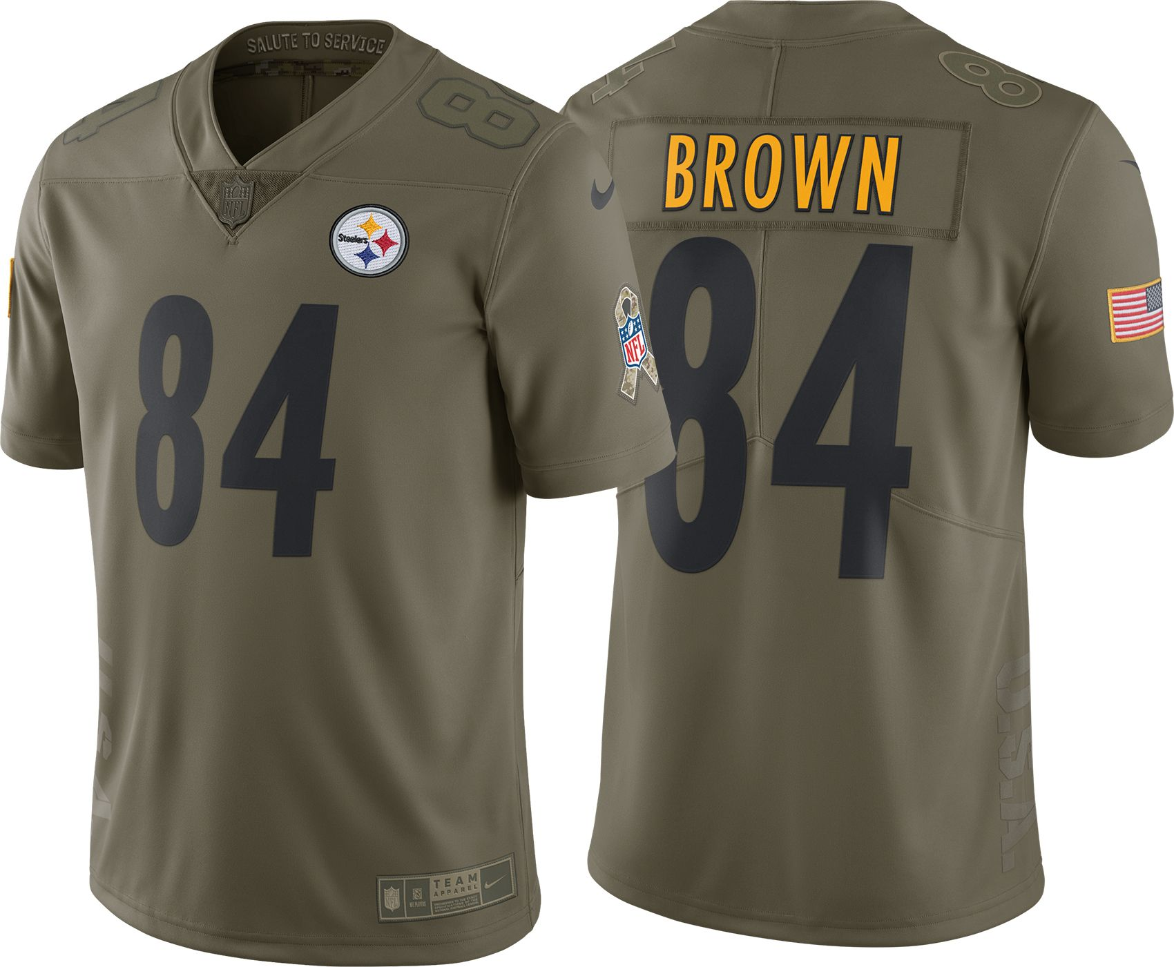 antonio brown 84 steelers jersey